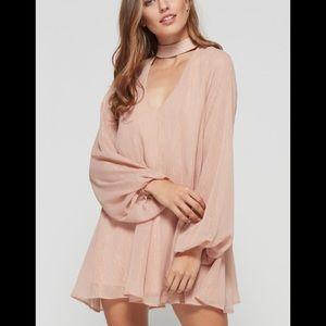 Show Me Your Mumu Josephine Bell Dress Rose NWT